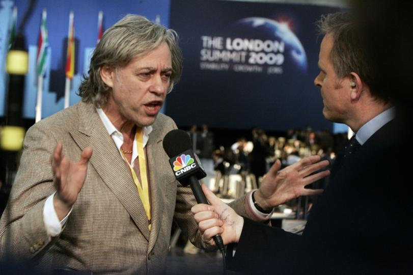 Bob Geldof at London Summit